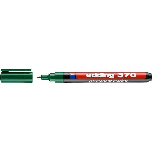 Маркер перманентный промышленный Edding (Эддинг) 370, круглый наконечник, 1 мм, зеленый 004