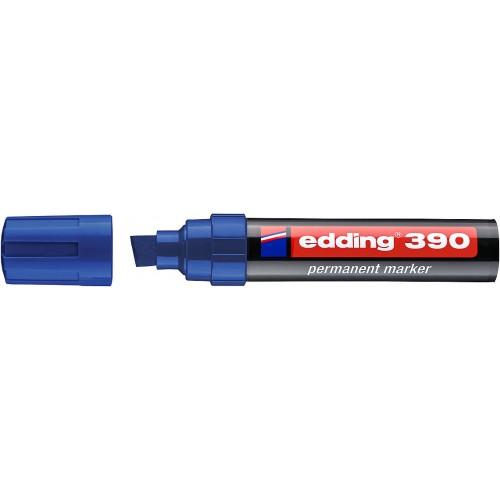 Маркер перманентный промышленный Edding (Эддинг) 390, клиновидный наконечник, 4-12 мм, синий 003