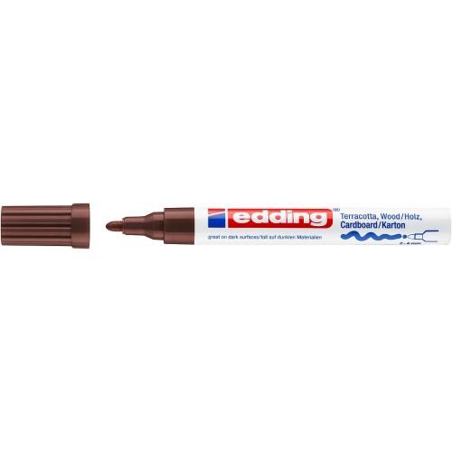 Маркер лаковый декоративный Edding (Эддинг) 4000, круглый наконечник, 2-4 мм, коричневый 007