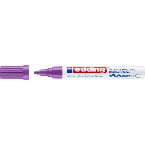Маркер лаковый декоративный Edding (Эддинг) 4000, круглый наконечник, 2-4 мм, фиолетовый 008