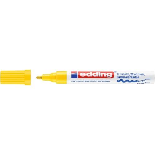 Маркер лаковый декоративный Edding (Эддинг) 4000, круглый наконечник, 2-4 мм, желтый 005