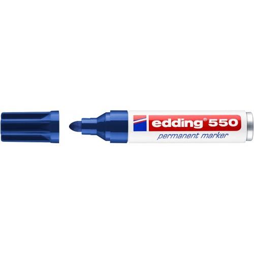 Маркер перманентный промышленный Edding (Эддинг) 550, круглый наконечник, 3-4 мм, синий 003