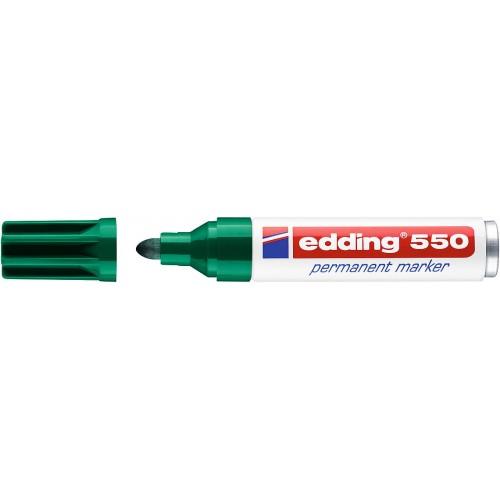 Маркер перманентный промышленный Edding (Эддинг) 550, круглый наконечник, 3-4 мм, зеленый 004