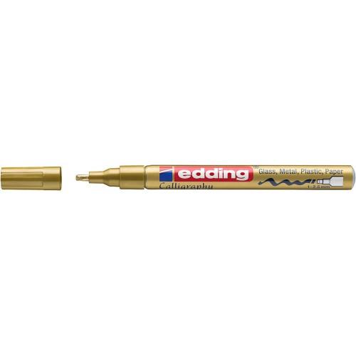 Маркер лаковый Edding (Эддинг) 753, каллиграфический наконечник, 1-2,5 мм, золотой 053