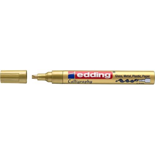 Маркер лаковый Edding (Эддинг) 755, каллиграфический наконечник, 1-4 мм, золотой 053