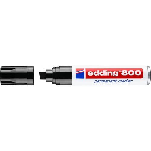 Маркер перманентный промышленный Edding (Эддинг) 800, клиновидный наконечник, 4-12 мм, черный 001