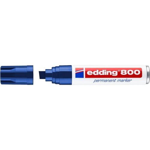 Маркер перманентный промышленный Edding (Эддинг) 800, клиновидный наконечник, 4-12 мм, синий 003