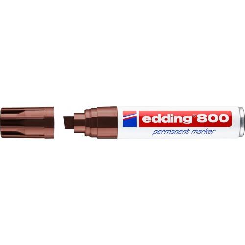 Маркер перманентный промышленный Edding (Эддинг) 800, клиновидный наконечник, 4-12 мм, коричневый 007