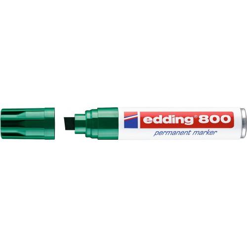 Маркер перманентный промышленный Edding (Эддинг) 800, клиновидный наконечник, 4-12 мм, зеленый 004
