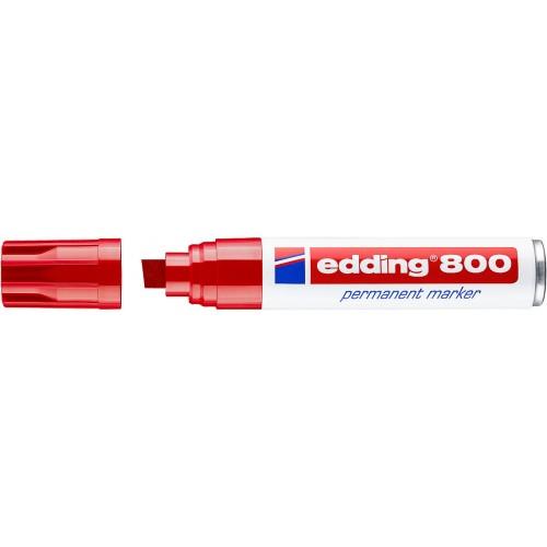 Маркер перманентный промышленный Edding (Эддинг) 800, клиновидный наконечник, 4-12 мм, красный 002