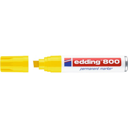 Маркер перманентный промышленный Edding (Эддинг) 800, клиновидный наконечник, 4-12 мм, желтый 005