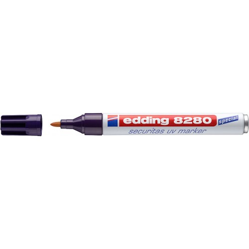 Маркер ультрафиолетовый Edding (Эддинг) 8280, круглый наконечник, 1,5-3 мм