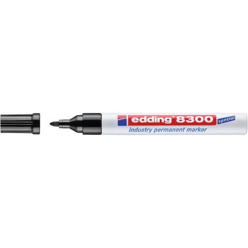 Маркер перманентный промышленный Edding (Эддинг) 8300, круглый наконечник, 1,5-3 мм, черный 001