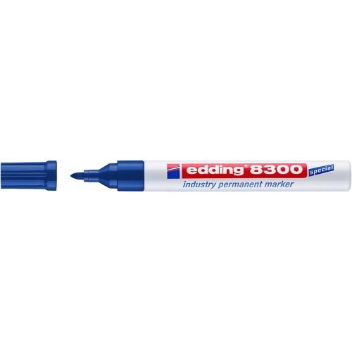 Маркер перманентный промышленный Edding (Эддинг) 8300, круглый наконечник, 1,5-3 мм, синий 003