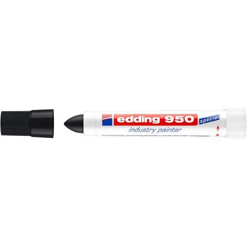 Маркер для промышленной графики Edding (Эддинг) 950, круглый наконечник, 10 мм, пигментная паста, черный 001
