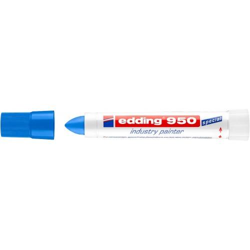 Маркер для промышленной графики Edding (Эддинг) 950, круглый наконечник, 10 мм, пигментная паста, синий 003