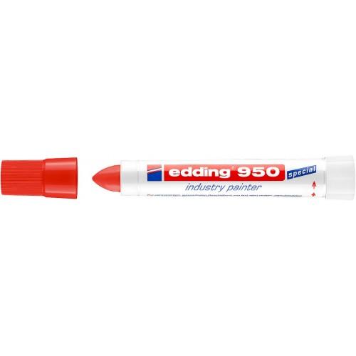 Маркер для промышленной графики Edding (Эддинг) 950, круглый наконечник, 10 мм, пигментная паста, красный 002