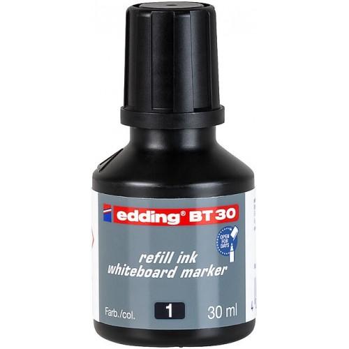 Чернила Edding (Эддинг) BT30, 30 мл, черные 001, для заправки маркеров E-250, 361, 365