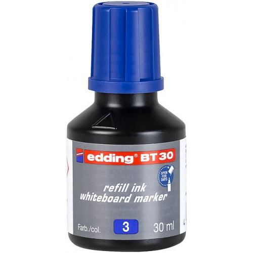 Чернила Edding (Эддинг) BT30, 30 мл, синие 003, для заправки маркеров E-250, 361, 365