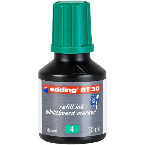 Чернила Edding (Эддинг) BT30, 30 мл, зеленые 004, для заправки маркеров E-250, 361, 365