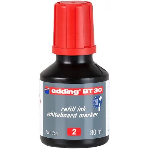 Чернила Edding (Эддинг) BT30, 30 мл, красные 002, для заправки маркеров E-250, 361, 365