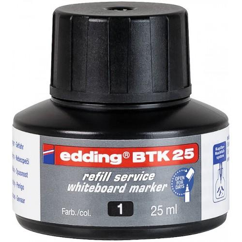 Чернила Edding (Эддинг) BTK25, 25 мл, черные 001, для заправки маркеров E-28, 29, 250, 360, 361, 363