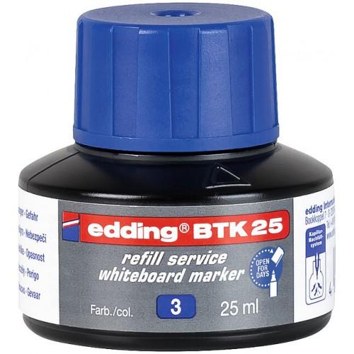 Чернила Edding (Эддинг) BTK25, 25 мл, синий 003, для заправки маркеров E-28, 29, 250, 360, 361, 363