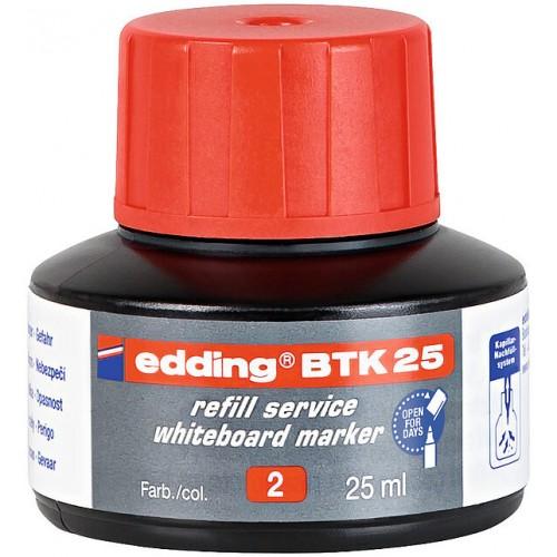 Чернила Edding (Эддинг) BTK25, 25 мл, красные 002, для заправки маркеров E-28, 29, 250, 360, 361, 363