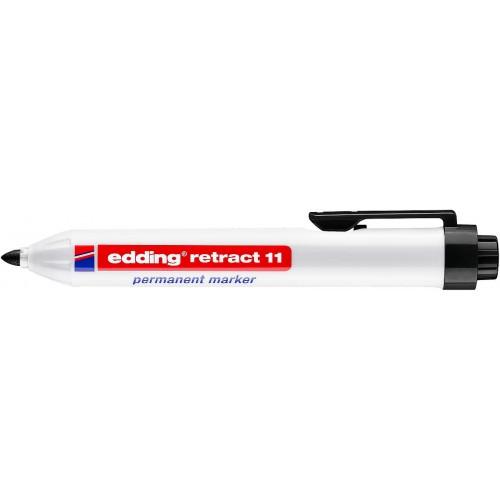 Маркер перманентный промышленный Edding (Эддинг) 11, c кнопкой, пулевидный наконечник, 1,5-3 мм, черный 001
