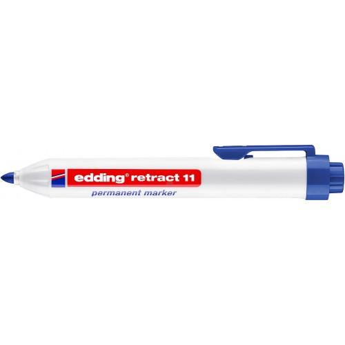 Маркер перманентный промышленный Edding (Эддинг) 11, c кнопкой, пулевидный наконечник, 1,5-3 мм, синий 003