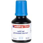 """Тушь для заправляемых маркеров """"Edding T 25"""", 30мл, голубой"""