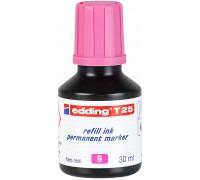 Чернила промышленные Edding (Эддинг) T 25, 30 мл, розовые 009, для заправки перманентных маркеров E-2000, 2000 C, 2200, 2200 C, No.1, 400, 404, 500, 800, 850, 353, 370, 390