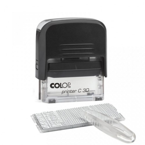 Штамп самонаборный пластиковый Colop Printer C30/1-SET, 5 строки с одной кассой, черный