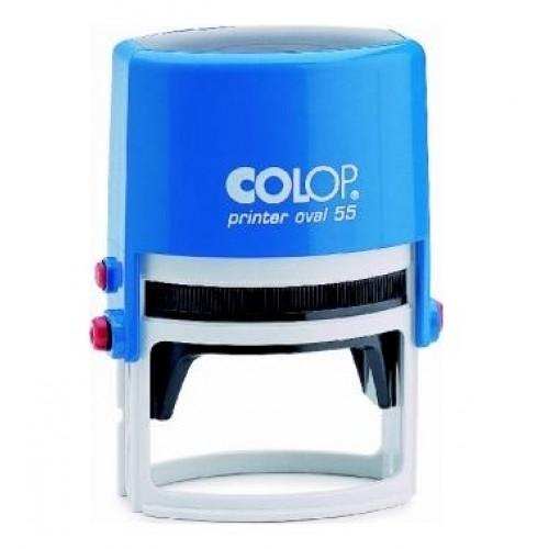 Оснастка автоматическая для овальной печати Colop Printer Oval 55, 35х55 мм, синяя