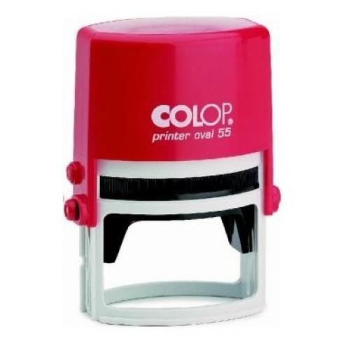 Оснастка автоматическая для овальной печати Colop Printer Oval 55, 35х55 мм, красная