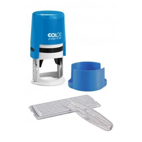 Печать самонаборная автоматическая Colop Printer R 40/1,5 SET, 1,5 круг, синяя