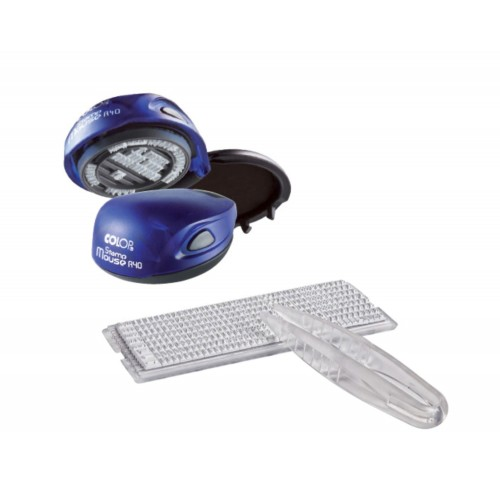 Печать самонаборная карманная пластиковая Colop Stamp Mouse R40/1.5 SET, 1,5 круга