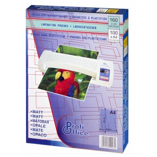 Плёнка для ламинирования матовая ProfiOffice А4 216х303 мм 80 мкм 100 шт./уп.