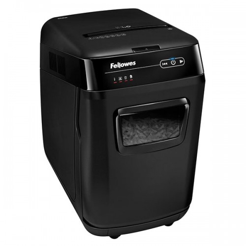 Уничтожитель бумаги (шредер) Fellowes (Феллоуз) AutoMax 200C, автоподача 200л, DIN P-4, 4х38мм, 10 ручн., 32 л., автореверс, FS-46536