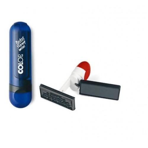 Штамп мини карманный Colop Mini-Pocket, 10x39 мм, индиго