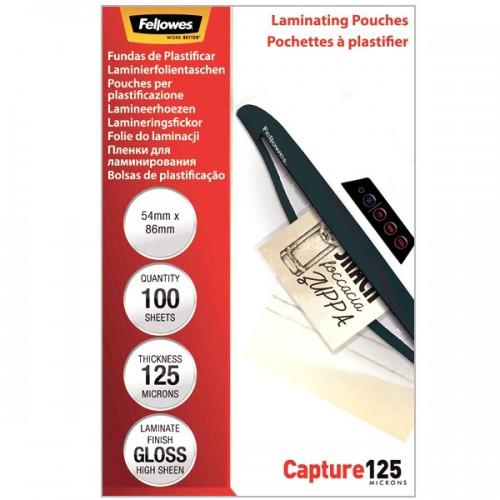Плёнка для ламинирования Fellowes (Феллоуз) 64x95 мм 125 мкм трехслойная 100 шт./уп. FS-53067