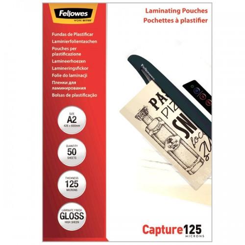 Плёнка для ламинирования Fellowes (Феллоуз) А2 125 мкм 50 шт./уп. FS-53093