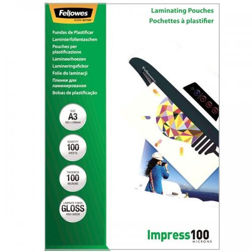 Плёнка для ламинирования Fellowes (Феллоуз) А3 100 мкм 100 шт./уп. FS-53512