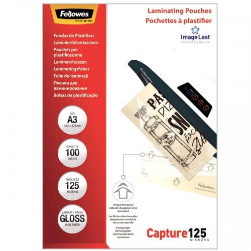 Плёнка для ламинирования Fellowes (Феллоуз) А3 125 мкм 100 шт./уп. FS-53075