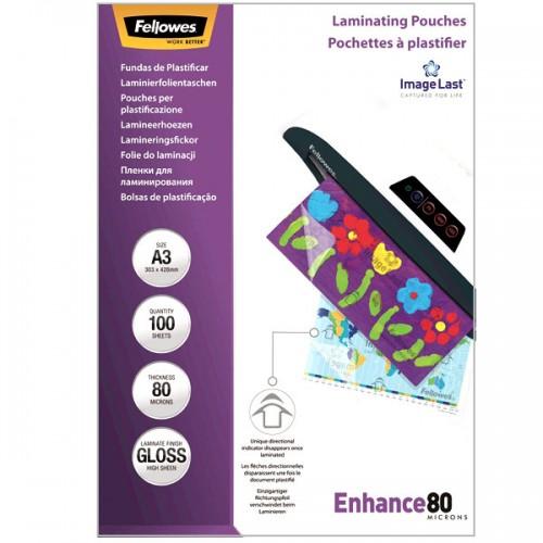 Плёнка для ламинирования Fellowes (Феллоуз) А3 80 мкм 100 шт./уп. FS-53062