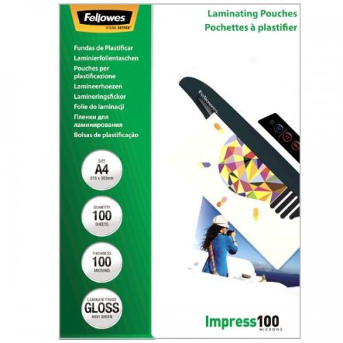 Плёнка для ламинирования Fellowes (Феллоуз) А4 100 мкм 100 шт./уп. FS-53511