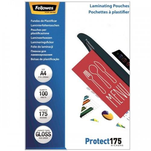 Плёнка для ламинирования Fellowes (Феллоуз) А4 175 мкм 100 шт./уп. FS-53087
