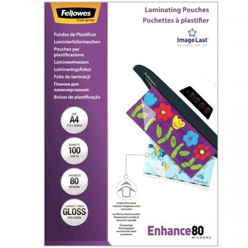 Плёнка для ламинирования Fellowes (Феллоуз) А4 80 мкм 100 шт./уп. FS-5306101