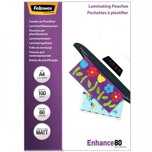 Плёнка для ламинирования Fellowes (Феллоуз) А4 80 мкм 100 шт./уп. FS-5452101
