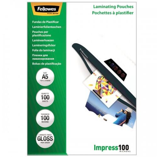 Плёнка для ламинирования Fellowes (Феллоуз) А5 100 мкм 100 шт./уп. FS-53510